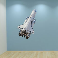 Space Rocket Shuttle Wall Art Sticker Decal Space Theme Boys Bedroom Graphic