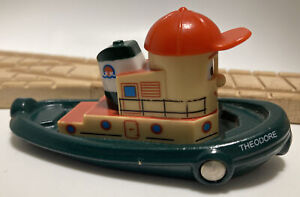 Vintage BRIO Wooden Train Set Theodore Tugboat Tug Boat Ship Face. Thomas Compat