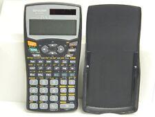 SHARP Advanced D.A.L. EL-520W Twin Power 2 Line Calculator w Cover Works Great}