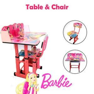 Height Adjustable Princess Children Kids Study Desk Table Chair Set