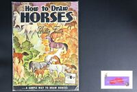 💎ART BOOK PUBLISHED BY WALTER FOSTER SIMPLE WAY HOW TO DRAW HORSES 💎