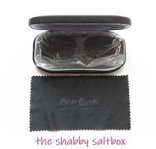 Polar Eyes Sunglasses Clip On Premium Polarized Sun Ware Sunware with Hard Case