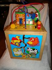 """18"""" H 11"""" Box Wooden Sensory Toddler Shape Flip Color Counting Colorful Toy"""