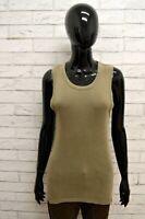 Maglia LEVIS Donna Taglia Size M Maglietta Canotta Shirt Woman Cotone Smanicato