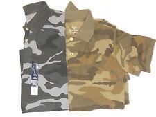 New Boys Camo Polo Shirts Sz Xs(4-5) S( 6-7) M(8) L(10-12) Xl(14-16) Xxl(18)