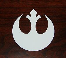 Rebel Alliance Logo Decal Sticker Star Wars WHITE 3""