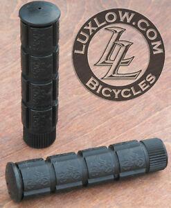 Black Fixie Track Bike Grips Fixed Gear Old School BMX MTB Cruiser Bicycle Grip