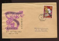 MALAYSIA SARAWAK 1963 6s ORCHID ILLUST.COVER...VERY FINE