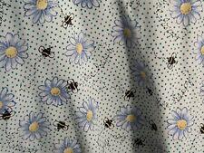 Nurse Scrub Uniform Top-  flowers,  bumble bees