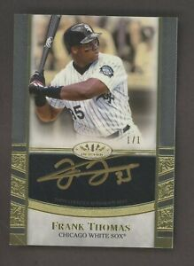 2021 Topps Tier One Frank Thomas HOF Signed Gold Ink AUTO 1/1 White Sox