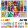 220Pcs Assorted Blade Fuse ABS Metal Head Auto Blade Fuses Bike Fuse Set UK