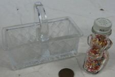 2 Vintage Candy Containers Dog & Basket