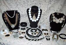 Vintage & Modern B&W Costume Jewelry Lot - Silpada, Monet