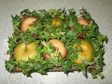 """Home Interiors """"Apples & Ivy Box"""" Decorative Wall Or Tabletop-New"""