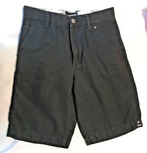 VANS Boys Black Pin stripe Shorts-Size 10