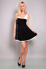 Gorgeous Women's Mini Dress V Neck Skater Dress Sleeveless Tunic Size 8-12 8120