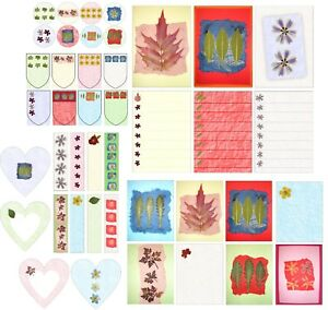 Planner, journal, diary, scrap-booking stickers with pressed flowers theme