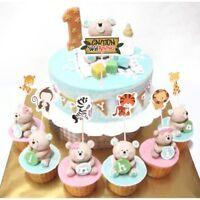 24pcs Safari Jungle Animal Cupcake Toppers Picks Birthday Party Decorating Craft