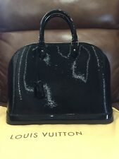 AUTH LOUIS VUITTON Alma MM EPI ELECTRIC Noir Black