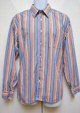 "Givenchy Shirt Mens L/Sleeve 16.5""/ 41 cm Designer Striped Multi Business Work"