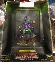 2006 Marvel Heroes Green Goblin Titanium Die Cast Action Figure w/ Display Case