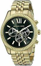 Michael Kors Lexington Men's Watch MK8286│Chronograph Dial│Gold Bracelet Strap