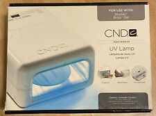 CND UV Lamp 08202 with 4 Light Bulbs For use with Nail Shellac Brisa Gel New