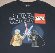 Vintage Lego Star Wars Obi Wan Darth Vader Minifig Large Mens T Shirt Excellent