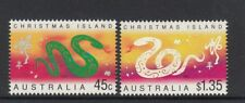CHRISTMAS IS  2001  Year of the SNAKE Design set of 2  MNH