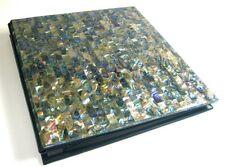 Genuine Abalone Paua Shell 5X7 Photo Album Slip Insert Postbound Handmade