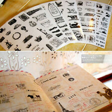 6 * Vintage Tagebuch Dekor Scrapbooking Transparent Stationery Planner
