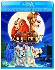 LADY AND THE TRAMP 2 - SCAMPS ADVENTURE DISNEY BLU RAY NEW SEALED - UK RELEASE
