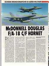 Q65 Scheda monograficha di aerei militari: McDonnell Douglas F/A-18 C/F Hornet