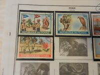 Lot of 5 Chad Boy Scouts Stamps 1972-76, Canoeing, Baden-Powell, Climbing