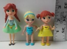 Disney Frozen Little Kingdom Young Elsa & Anna Figures Polly Pocket Used
