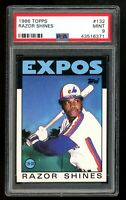 1986 Topps #132 Razor Shines Montreal Expos PSA 9 MINT SET BREAK! QTY Available