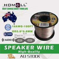 SW02B High Performance 100FT 16AWG Audio Cable Speaker Wire With Plastic Roll