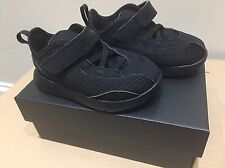 Baby Boys Girls Kids Jordan Strap Trainers Black Mesh Nike Jordans Infant 6.5