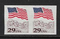 SCOTT 2523b 1991 29 CENT FLAG OVER MT RUSHMORE IMPERF PAIR MNH OG VF CAT $20!