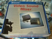 DYNASONIC MX-200 MONO TYPE VIDEO SOUND MIXER BUNDLE IN BOX - AU STOCK !