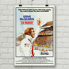Steve McQueen Le Mans Movie Poster Car Racing Canvas Art Print Wall Decor