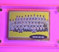 1962 Topps Baseball, #334 Boston Red Sox Team card  EX-Mt (No creases)