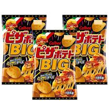 Calbee Japan Potato Chips Pizza Flavor Japanese Snack Big Bag 145g × 3P