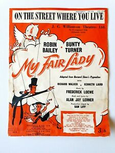 On The Street Where You Live (My Fair Lady) Sheet Music