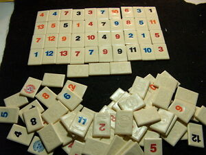 1997 Pressman Individual Rummikub Tiles - Your Choice replacement upick one