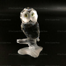 RARE Retired Swarovski Crystal Owl on a Branch 119442 Mint Boxed Up in the Trees