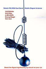 New listing Retech Rg-Ms8 144/430Mhz High Gain Dual Band Mobile Magnet Antenna(Sma-Female)