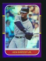 2021 Panini Donruss Holo Purple Parallel #235 Ken Griffey Jr. Seattle Mariners