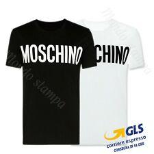 T Shirt Maglietta Uomo donna moschino Logo stampato Cotone 100% estate 2020