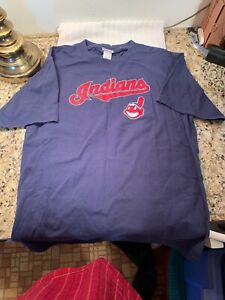 Cleveland Indians MLB T-Shirt Size M Chief Wahoo American League Bieber Lindor